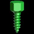 Knochenschraube Ø 2,0 mm x 6 mm (3/Pkg)