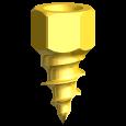 Knochenschraube Ø 2,7 mm x 4 mm (3/Pkg)