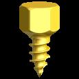 Knochenschraube Ø 2,0 mm x 4 mm (3/Pkg)