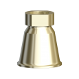 Gold Cylinder with Chamfer Conical
