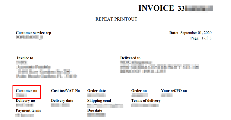 Invoice sample