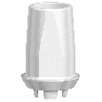 NobelPearl Abutment Straight Inter-X RP 1 mm