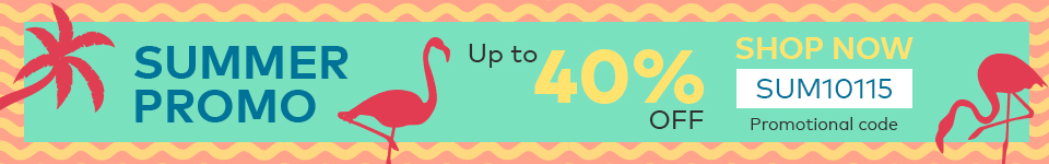 40% savings across selected product categories, PROMO CODE:SUM10115