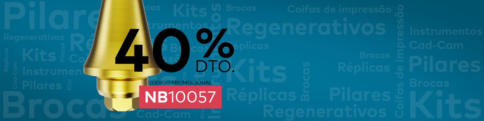 40% de desconto em milhares de produtos