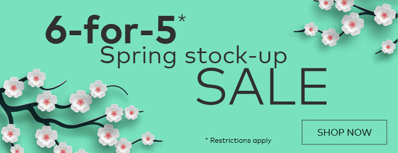 Spring stock-up sale